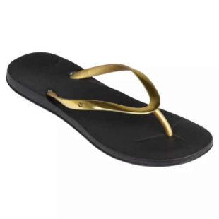 Női flip flop fekete és arany színben